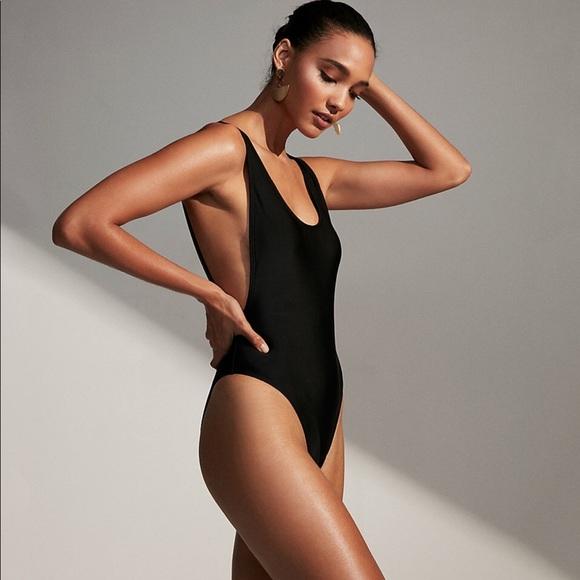 b273b8fec3 Express Swim | Large One Piece Bathing Suit Black | Poshmark